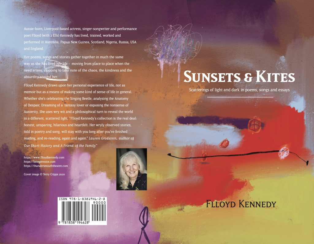 Sunsets & Kites, front and back cover